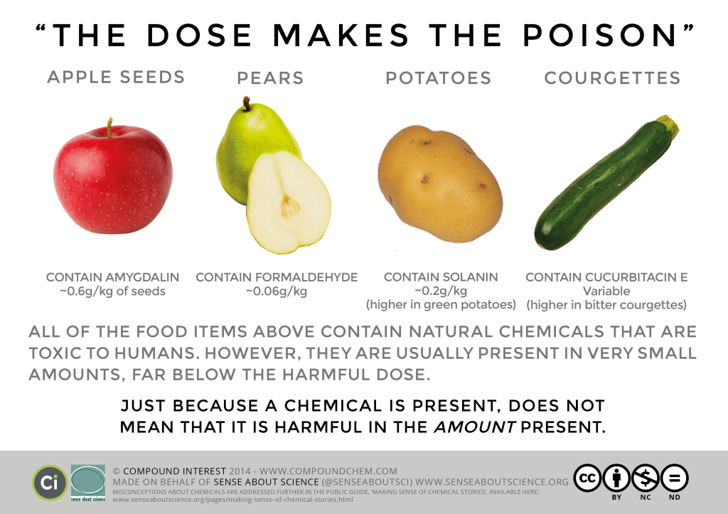 the dose makes the poison, are pears poisonous?